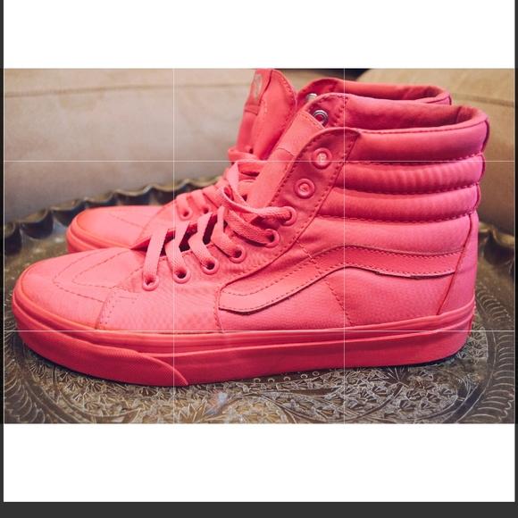 Vans Shoes | Hot Pink High Top Sneakers
